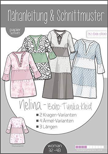 Schnittmuster kibadoo Boho-Kleid Nelina Damen Papierschnittmuster