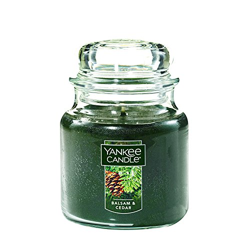 Yankee Candle Medium Jar Candle, Balsam & Cedar