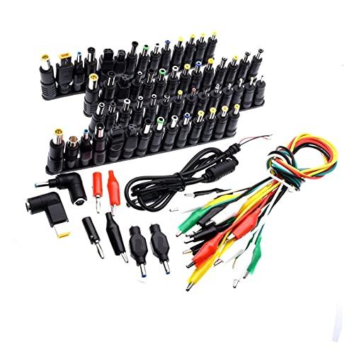 Sweatpants 74 PCS Universal Laptop Corriente Continua Enchufe del Conector del Adaptador de la Fuente de alimentación AC DC Conversión Cabezal Conectores Conectores portátil Potencia adapte