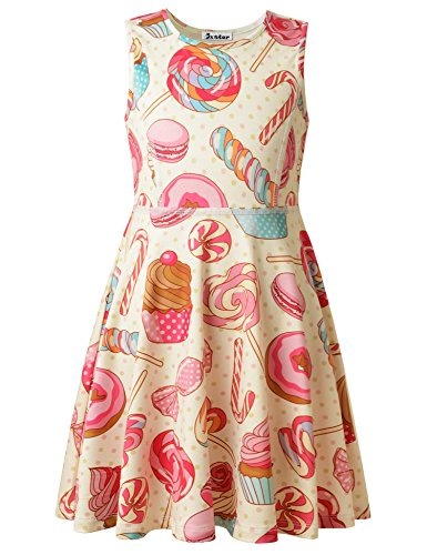 Jxstar Girls Size 6 Girls Size 7 Girls Age 6 Girls Age 7 Summer Dress Girls Clothes Candy 130