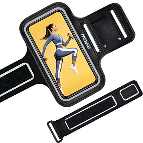 ランニングアームバンド スポーツ ランニング スマホ アームバンド MPOW欧米で大評価、今日本で初売り、タッチ操作OK 防水防汗 延長ベルト付き 軽量 小物収納 調節可能 夜間反射iPhone Xs /8/7/6S/6 、Xperia、Samsung、Androidなど 6.0インチまでのスマホに対応 iPhone 11/XR/Pro Max を持つお客様、ぜひ弊社のLサイズをご覧下さい