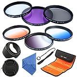 K&F Concept Filtro polarizador de protector UV de lente con paño de microfibra de limpieza y bolsa para Canon 7D 60D 70D 500D, Nikon D7000 D600 D300 D800 D7100, Sony A77 NEX 5 DSLR los 62MM