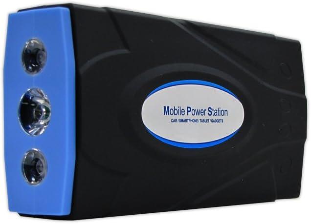 AMS MB-UB2168 Mobile Power Station & Car Jumper w/ Intelligent Cable (16,800mAh), 19V/16V/12V Output, DUAL USB, Multi-Mode LED Flashlight - For Car / Smartphone / Tablet / Gadgets