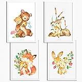 Sunnywall® 4er Set Poster Kinderzimmer - A4 Bilder