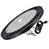 Kingwei 200W UFO LED Iluminación, Lámpara Alta Bahía 28000LM Focos Led Interior Techo 6500K Industrial LED Iluminación Comercial IP65 Impermeable para fábrica, almacén, estadio, restaurante