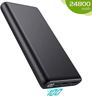Kilponen Batería Externa para Móvil 24800mAh, Power Bank Gran Capacidad con Pantalla LED, Cargador Portátil Móvil 2 Puertos Salidas USB Compatible con Xiaomi,Huawei,Smartphones/Tablets Android y Más