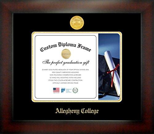 Celebration Frames Allegheny College Infinity Diplom-Bilderrahmen, Mahagoni-Finish, 20,3 x 25,4 cm