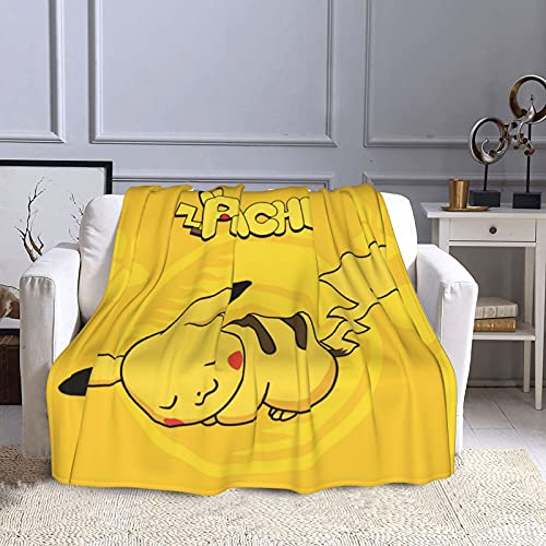 Pokemon Pikachu Couverture Pop Anime Couverture Polyvalente Camping Doux Couverture Enfants Couverture Famille Canapé Lit Couverture Couverture de bébé Molleton Couverture 40 x 50 inches