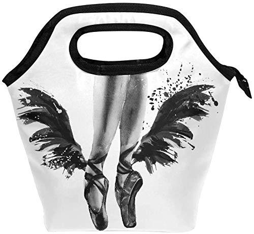 Bolsa de almuerzo con cremallera aislada para ballet, bolsa de asas más fresca para adultos, adolescentes, niños, niñas, hombres, mujeres, zapatos de punta, cajas de almuerzo, loncheras, preparación