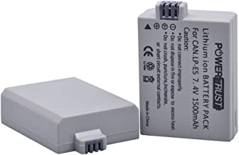 PowerTrust 2X LP-E5 Battery for Canon EOS Rebel XS, Rebel T1i, Rebel XSi, 1000D, 500D, 450D, Kiss X3, Kiss X2, Kiss F