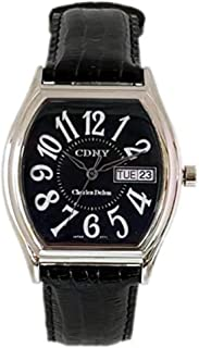Charles Delon Mens Quartz Watch, Analog Display and Leather Strap 2771 GIBB