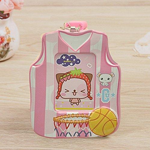 Abenily Münzen-Spardose-Geschenkbox Basketball Shirt Spardose Interessante Weißblech Aufbewahrungsbox Kinder Exklusive Geschenke (Pink)