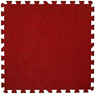 Get Rung Carpet Topped Mat with Interlocking Foam Tiles. Great Alternative to Rolled Carpet Excellent for Trade Show, Base...