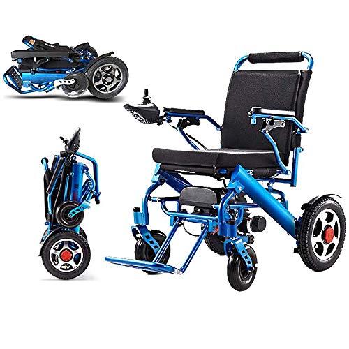 DLY Ältere Behinderte Elektrische Rollstühle, die Tragbare Gehhilfen mit Prüfer und Bremsen für Behinderte und Ältere Personen Falten, Können 15 Km Fahren