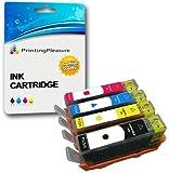 Printing Pleasure 4 Compatibles HP 655 Cartuchos de Tinta Reemplazo para HP Deskjet Ink Advantage 3525 4615 4625 5525 6525 - Negro/Cian/Magenta/Amarillo, Alta Capacidad