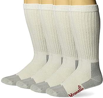 Wrangler Men s Riggs Workwear Over The Calf Work Boot Socks 4 Pair Pack White Large