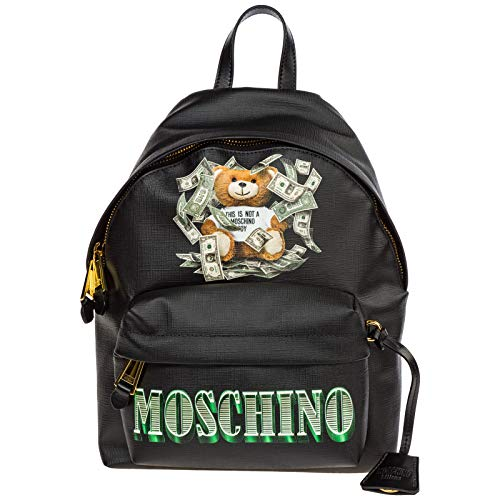 Moschino damen dollar teddy bear Rucksack nero