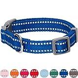 Umi. by Amazon - collare per cani catarifrangente, taglia M, collo 37-50 cm, regolabile, colore pastello blu navy