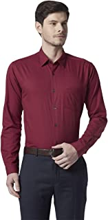 Park Avenue Solid Dark Red Coloured Cotton Shirt