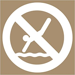 [Graphic Only] No Diving 8 in. Plastic Stencil for Recreation and No Swimming/Diving, Made in USA by ComplianceSigns
