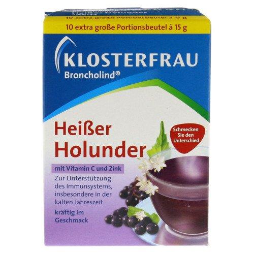 KLOSTERFRAU Broncholind Heißer Holunder Pulver 10X15 g