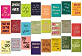 tom bäcker Lot de 24 cartes postales anglaises - N° 4 - Calendrier de l'Avent - Anglais for Oncatcher Original - DEnglish - Proverbes en anglais - Cadeau pour enseignants
