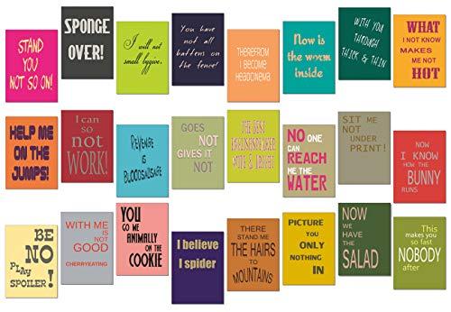 tom bäcker Denglisch Postkarten Set/Karten Mix - 24 Stück - Nr 4 - ADVENTSKALENDER - Engleutsch for Oncatcher Original - Denglish - Sprüche Englisch - Geschenk für Lehrer