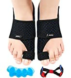 Bunion Corrector, 5PCS Orthopedic Bunion Corrector Kit for Big Toe Pain Relief, Adjustable Size &Breathable Bunion Splint with Day/Night Support, Bunion Corrector for Women Men Hallux Valgus Corrector