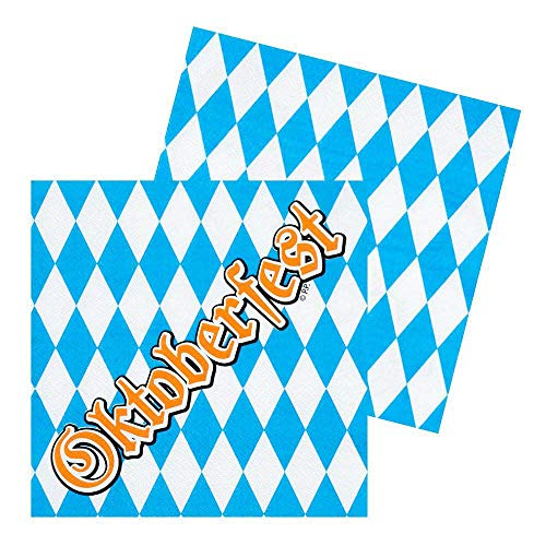 Boland-BOL54259 Juego de servilletas Oktoberfest Cerveza Party, color azul/blanco (Ciao Srl BOL54259)