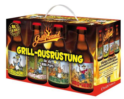 Grillbox - Das Grill Zubehör für jede Party Bier im 8er Geschenkkarton