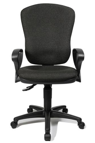 Topstar 8180SG22 Point 80 bureaustoel, 46 x 49 x 118 cm, antraciet