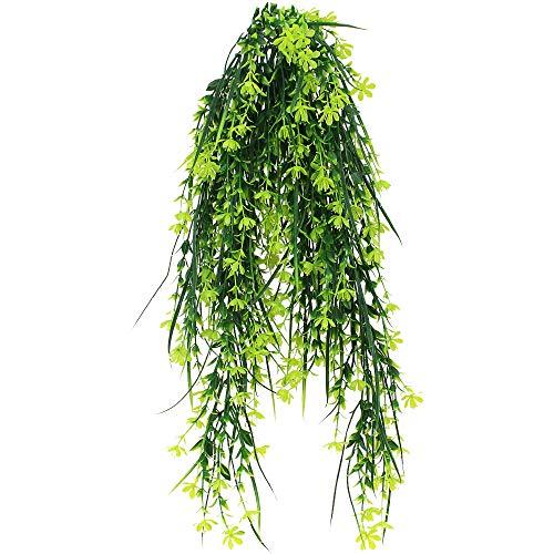 TXErfolg Künstliche Hängepflanze 2 Stück Künstliche Hängepflanzen Vine Pflanzen Grün Blätter 80cm lang Rebe Laub Künstliche Ivy Vine für Innen Draußen Haus Büro Wand Garten Spalier Deko