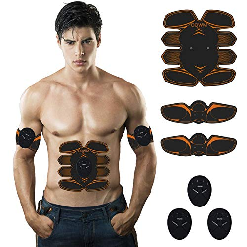 Abs Stimulator Muscle Trainer Ultimate Abs Stimulator Ab Stimulator for Men Women Abdominal Work Out Ads Power Fitness Abs Muscle Training Gear Workout Equipment Portable Stimulator orange01