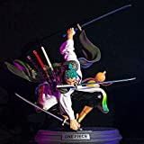 Anime One Piece Roronoa Zoro Figura Tres cuchillos Big Thousand World Land of Wano Country PVC Model...
