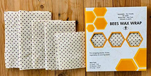 BeesWax Wrap I 5 hojas Un paquete   Orgánico I 2 Grande 2
