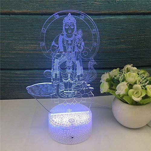 QHDHGR Luz nocturna de zen 3D,lámpara de ilusión óptica para decoración del hogar y para codormir, mando a distancia con 7 colores cambiantes, ideal como regalo de cumpleaños para niños