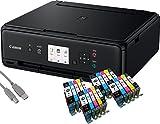 Canon PIXMA TS5050 Drucker Tintenstrahl-Multifunktionsgerät schwarz (Drucken, Scannen, Kopieren, Cloudlink) mit 20 komp. youprint Druckerpatronen PGI570/CLI571 XL (ohne Originalpatronen)