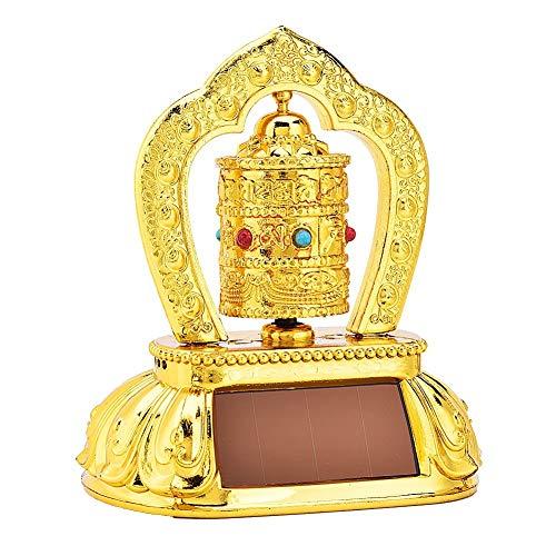 Outbit Auto Armaturenbrett Dekorationen - 1 PC tibetischen tibetischen buddhistischen Solar Energy Spinning Gebetsmühle für die Auto-Innenausstattung.