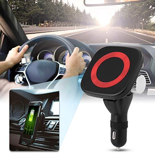 Cargador de coche Cargador USB inalámbrico para encendedor de cigarrillos Adaptador Divisor Carga rápida Soporte magnético para teléfono