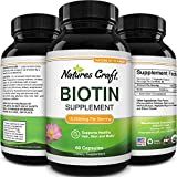 Pure + Potent Biotin Vitamins - Promotes Hair Growth + Prevents Hair Loss - Introduces Better Skin + Hair + Nails - Natural Supplement for Men and Women- Helps Promote Faster Metabolism