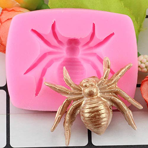 HUIZHANG 3DHalloween Fledermaus Spinne Finger Gehirn Käfer Form Silikonformen Fondant Schokoladenkuchen Dekoration Backformen