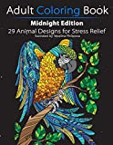 Adult Coloring Book: Midnight Edition: 29 Animal Designs for Stress Relief (Unibul Press Coloring Books)