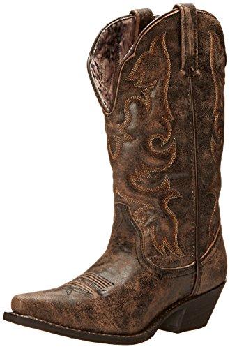 Laredo Women's Access Western Boot, Black/Tan, 10 W US