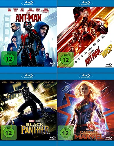 Marvel Studios Bundle - Black Panther + Ant-Man + Ant-Man and the Wasp + Captain Marvel [4-Blu-ray]