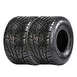 SunF K002 11x6.00-5 11x6.00x5 neumáticos go-kart racing neumáticos neumáticos para lluvia cortacésped y carrito de golf neumáticos para césped 4PR TL E marca de prueba, Set de 2 piezas