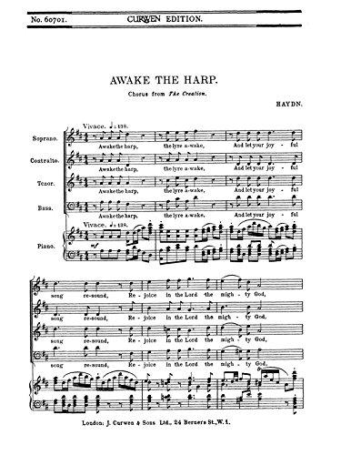 Haydn Awake the Harp SATB. Für Choral -
