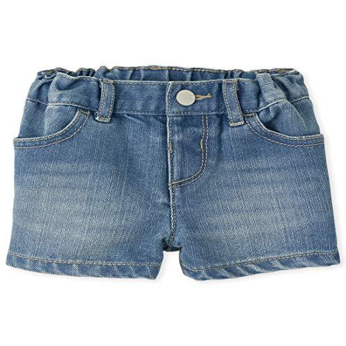 The Children's Place Baby Girls' Denim Shorts, REFLECTBLUE WSH, 5T
