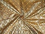 TheFabricFactory Brokatstoff Braun x Metallic Gold 111,8 cm