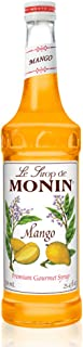 Monin - Mango Syrup, Tropical and Sweet, Great for Cocktails, Sodas, and Lemonades, Gluten-Free, Vegan, Non-GMO (750 Milliliters)
