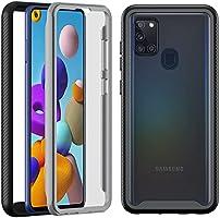 Hülle Kompatibel mit Samsung Galaxy A21S, Hensinple Handyhülle 360 Grad Komplette Schutzhülle Rundumschutz mit...